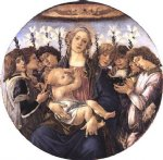 sandro botticelli madonna and child with eight angels painting-25225