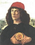 sandro botticelli portrait of a man with a medal of cosimo the elder painting 25235