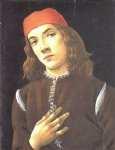 sandro botticelli portrait of a young man painting