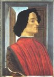 portrait paintings - portrait of giuliano de medici by sandro botticelli