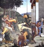 sandro botticelli the trials and calling of moses detail 7 cappella sistina vatican painting