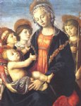 sandro botticelli the virgin and child with two angels and the young st john the baptist painting 25281