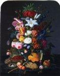 floral still life by severin roesen painting