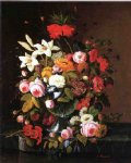 floral still liife by severin roesen painting