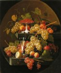 fruit and wine glass by severin roesen painting