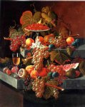fruit composition with tazza of strawberries by severin roesen painting