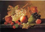 fruit on a marble ledge by severin roesen painting