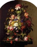 severin roesen still life flowers painting 25136