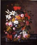 severin roesen still life with flowers ii painting 25145
