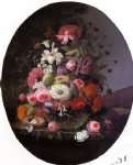 severin roesen still life with flowers iii painting 25146