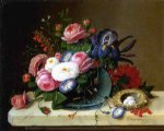 severin roesen still life with flowers v painting 25148