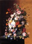 severin roesen still life with flowers painting 25149