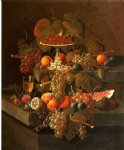 severin roesen still life with grapes and fruit painting-25178