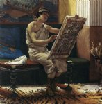 a roman artist by sir lawrence alma tadema painting
