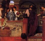 sir lawrence alma tadema hadrian visiting a romano british pottery painting-79359