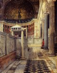 sir lawrence alma tadema interior of the church of san clemente rome oil painting