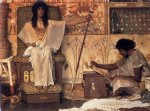 sir lawrence alma tadema joseph overseer of pharaoh s graneries painting