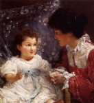 sir lawrence alma tadema mrs. george lewis and her daughter elizabeth painting