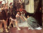 sir lawrence alma tadema proclaiming claudius emperor by sir lawrence alma-tadema Painting