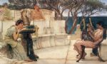 sir lawrence alma tadema sappho and alcaeus painting