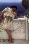 the poet gallus dreaming by sir lawrence alma tadema painting