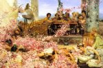 rose paintings - the roses of heliogabalus by sir lawrence alma tadema