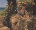 rose paintings - thou rose of all roses by sir lawrence alma tadema