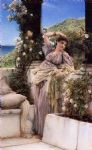 sir lawrence alma tadema thou rose of all the roses painting 84409
