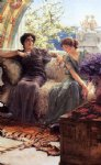 sir lawrence alma tadema unwelcome confidence painting