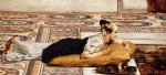 sir lawrence alma tadema water pets painting-25058