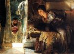 sir lawrence alma tadema welcome footsteps art