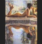 reflecting by steve hanks painting
