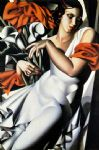 portrait of ira by tamara de lempicka painting