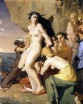 theodore chasseriau andromeda chained to the rock by the nereids painting