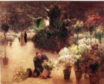 theodore clement steele flower mart paintings