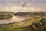 theodore clement steele the ohio river from the college campus hanover painting