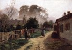 theodore clement steele village scene ii painting