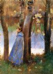 theodore robinson figure in a landscape painting 78820