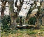 theodore robinson italian landscape with a fountain painting 79805