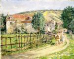 road by the mill by theodore robinson painting