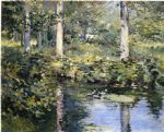 the duck pond by theodore robinson painting