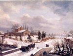 thomas birch pennsylvania winter scene painting