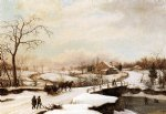 thomas birch philadelphia winter landscape painting 24802