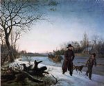 winter by thomas birch painting