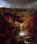falls of kaaterskill by thomas cole painting