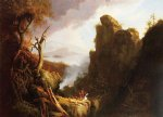 indian sacrifice by thomas cole painting