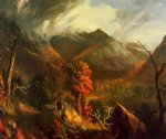 thomas cole peace at sunset oil painting
