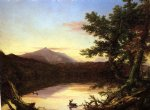 schroon lake by thomas cole painting