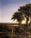 summer twilight by thomas cole painting