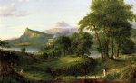 the course of empire the arcadian or pastoral state by thomas cole painting